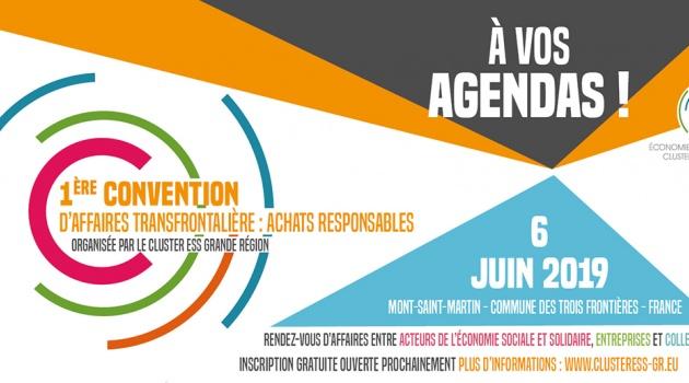 """SAVE THE DATE! Première convention d'affaires transfrontalière - """"Acheter responsable!"""""""